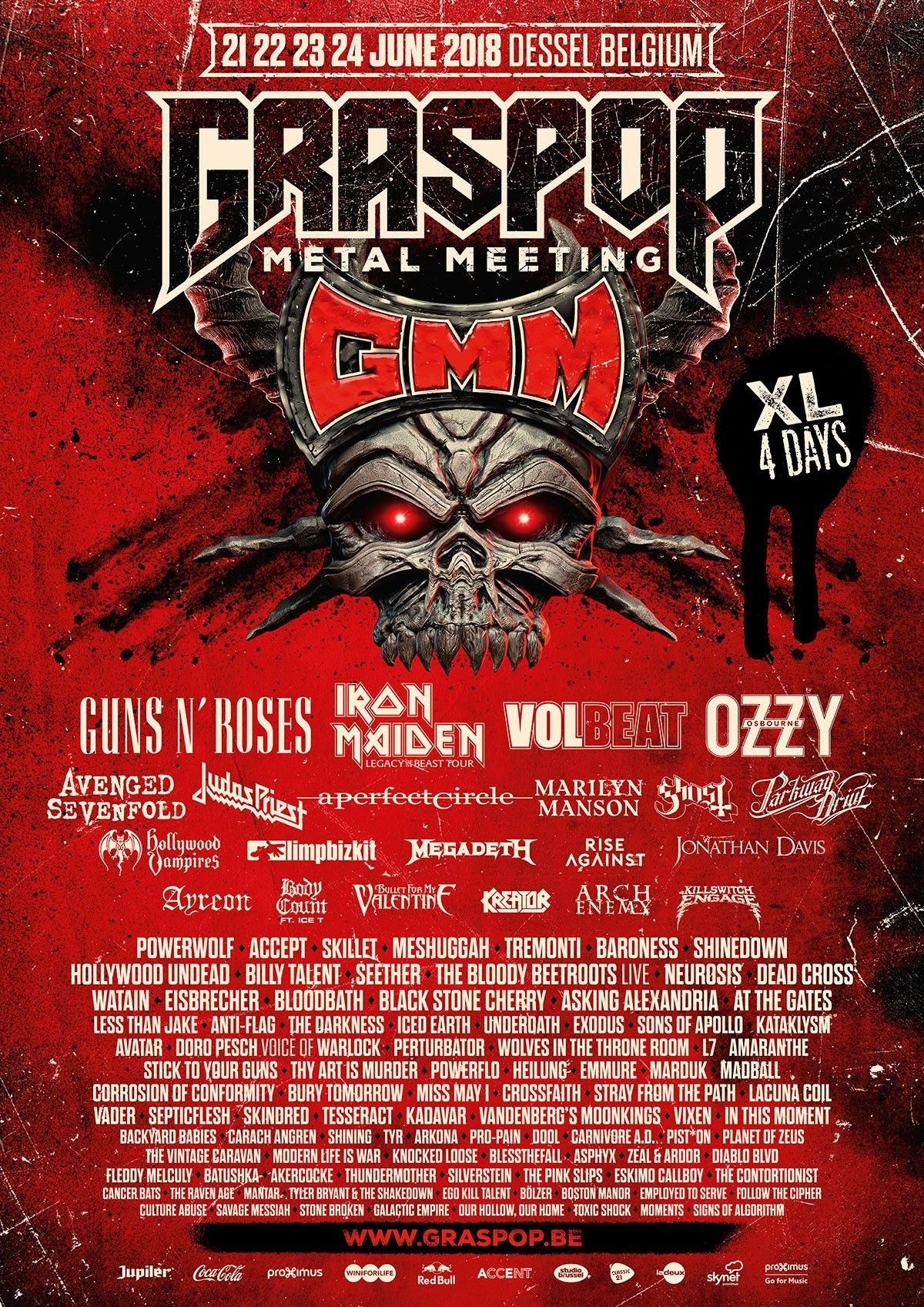 Affiche Graspop Metal Meeting 2018