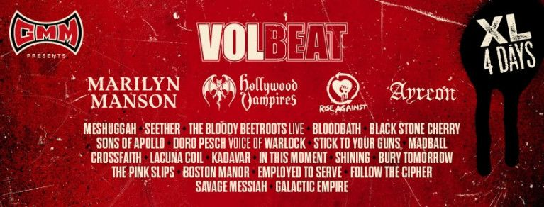 Volbeat & 25 new names on the bill!