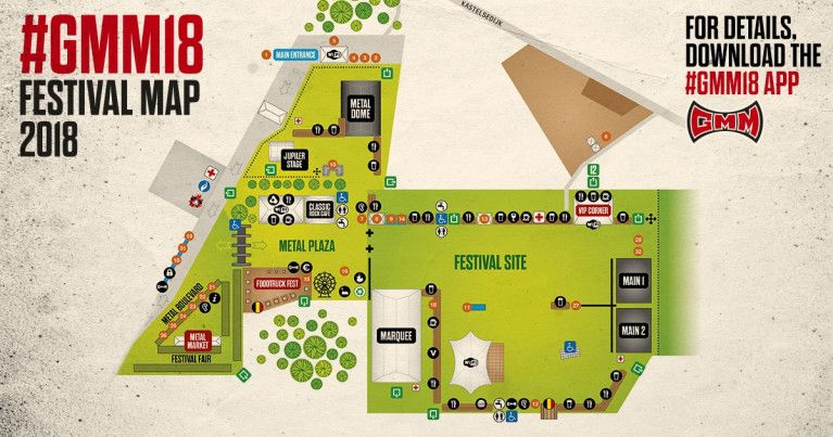 #GMM18 Festivalmap unveiled in the app