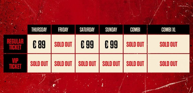 FRIDAY - SOLD OUT