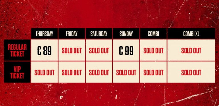 SATURDAY - SOLD OUT