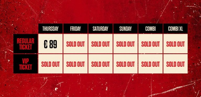 SUNDAY - SOLD OUT