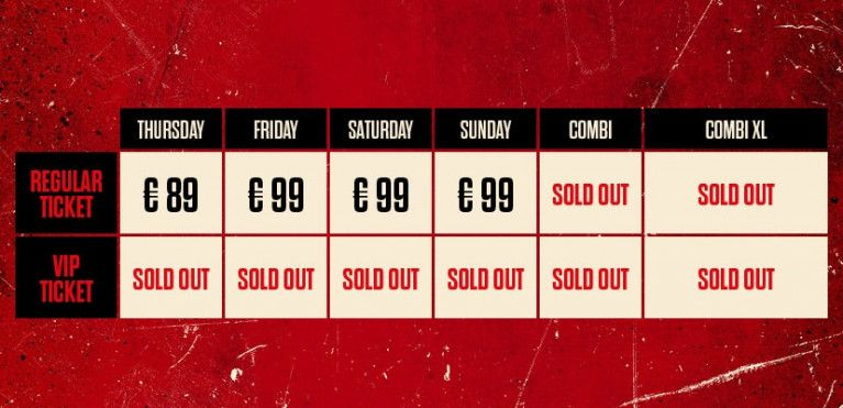 COMBI XL TICKETS SOLD OUT